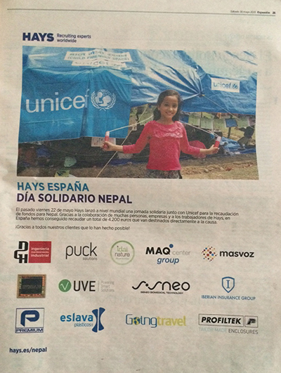 MAQcenter group solidario con Nepal